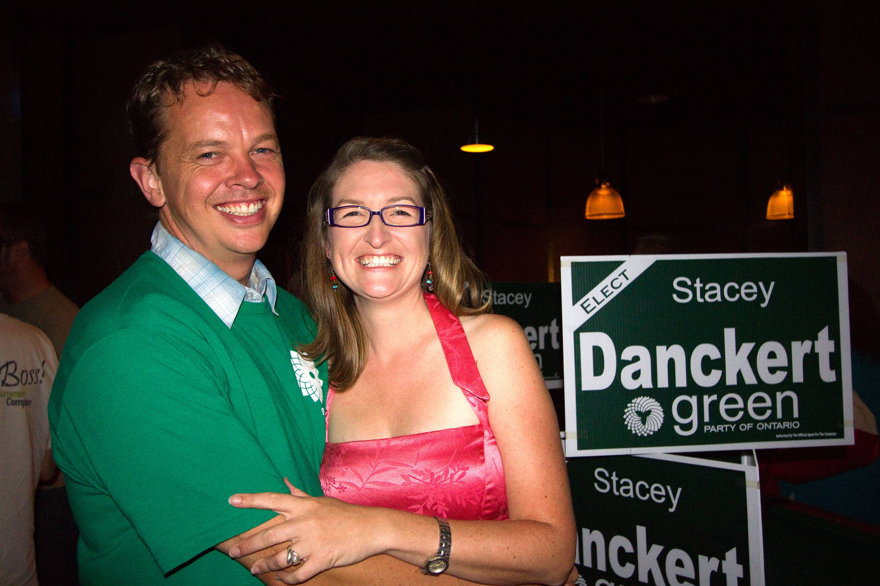 Stacey Danckert poses with her husband James. (Photo by Cristina Rucchetta).