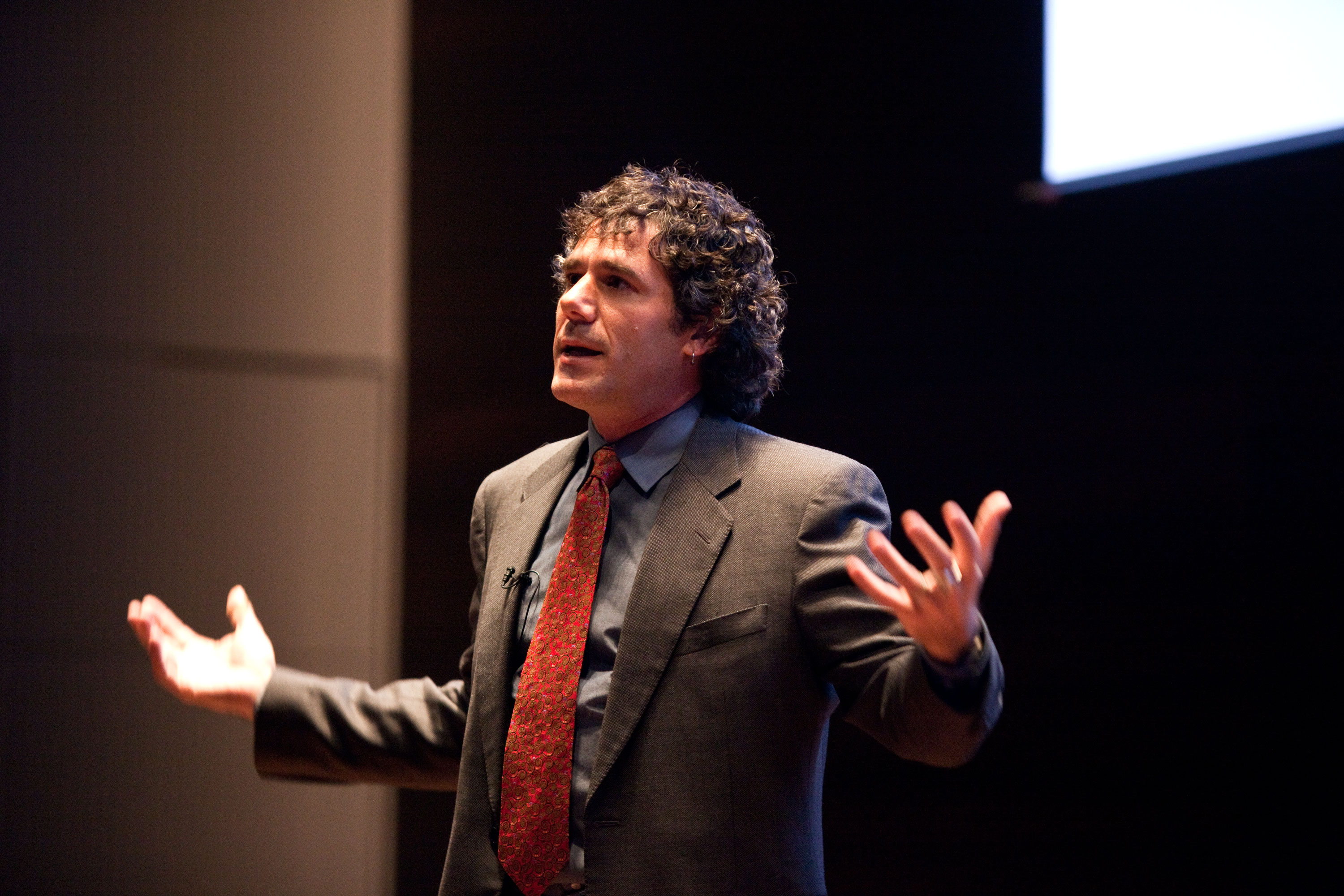 Marine ecologist Rafe Sagarin delivered a lecture at CIGI last Thursday. (Photo by Cristina Rucchetta)