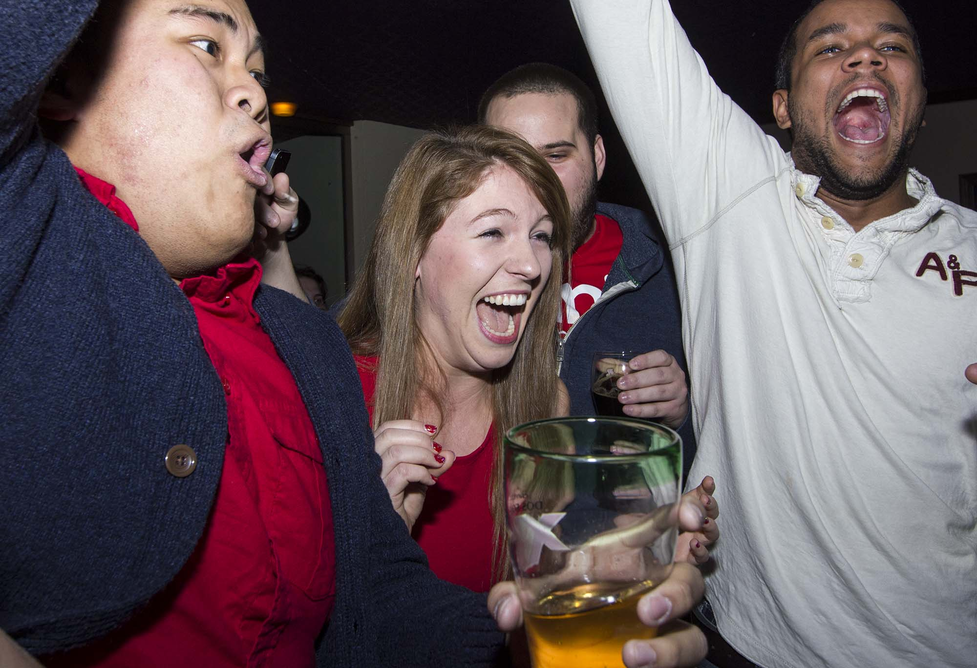 President-elect Annie Constantinescu reacting to her win. (Photo by Cristina Rucchetta).