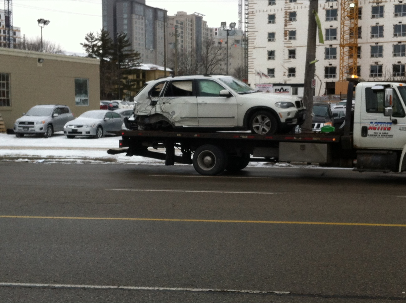 The SUV involved in the first accident.