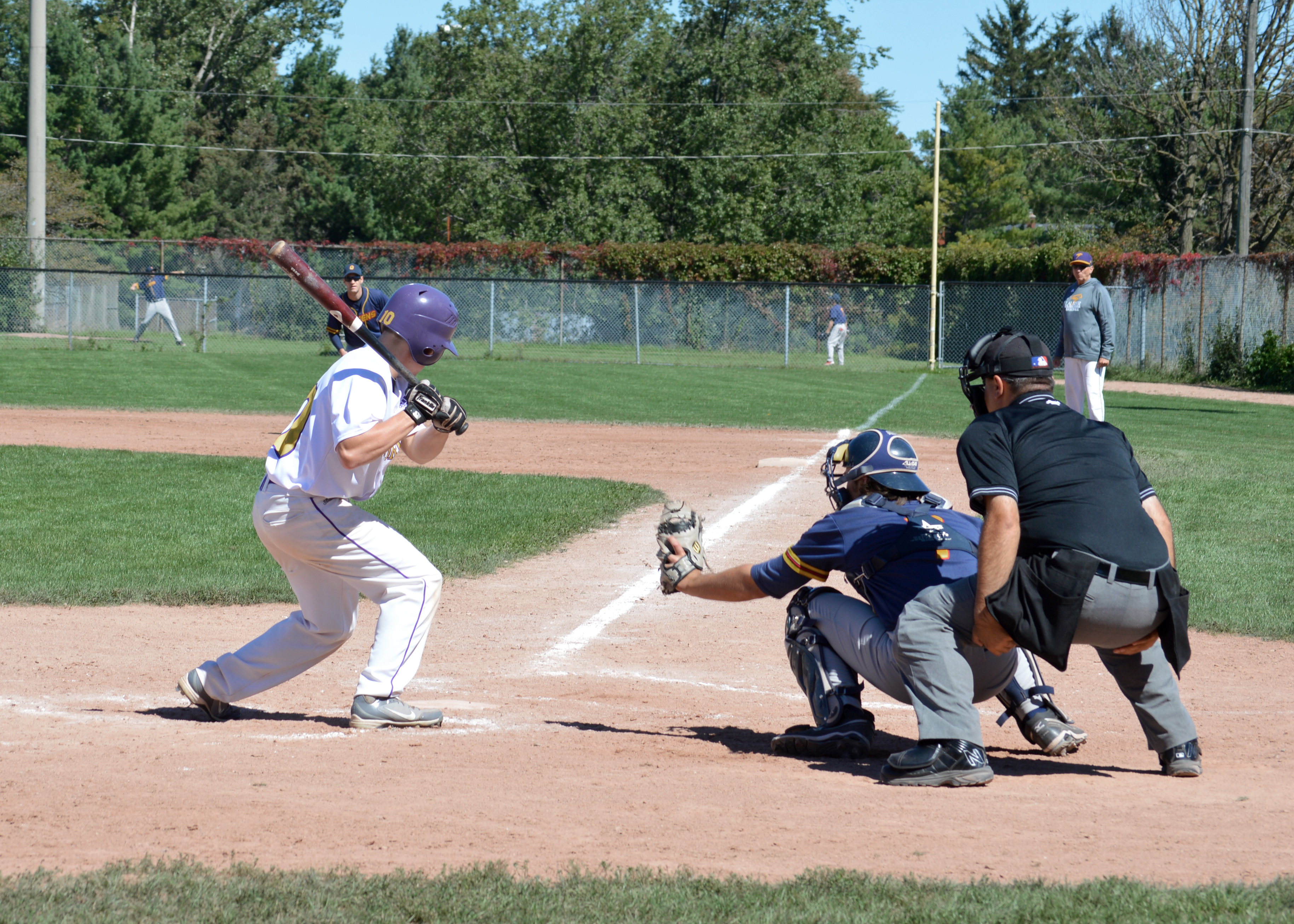 Laurier swept their doubleheader against Queen's over the weekend. (Photo by Andriana Vinnitchok)