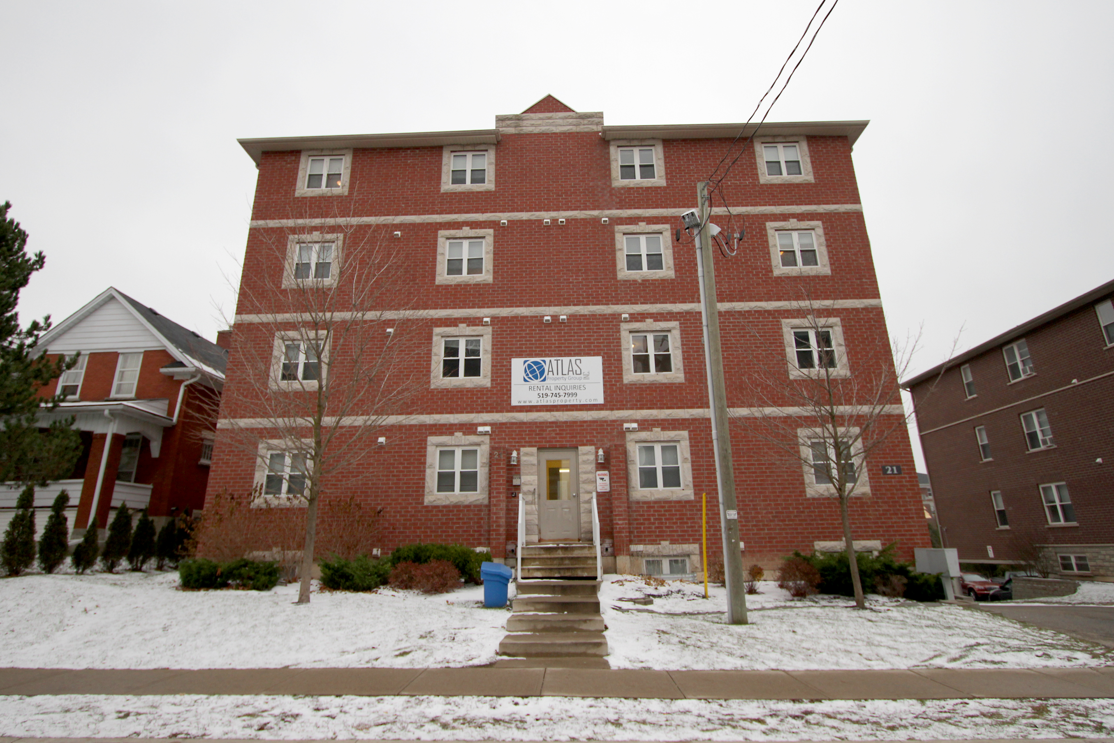 Apartments on Ezra, Bricker and Hickory were purchased by the university in spring 2012 (Photo by: Heather Davidson)