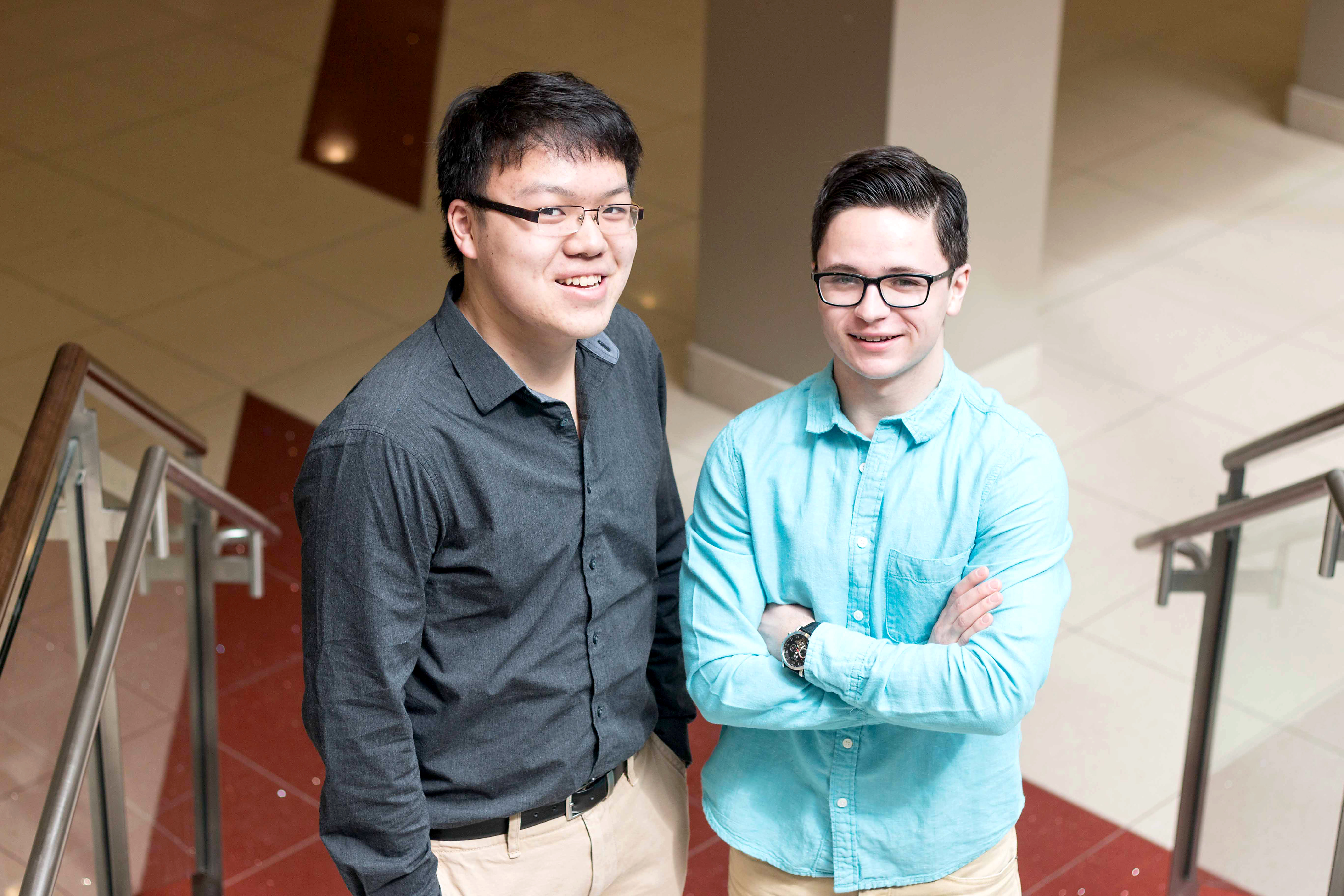 Brandon Chow and Andrew Paladi won Canada's Business Model Competition at Dalhousie University. (Photo by: Jessica Dik)