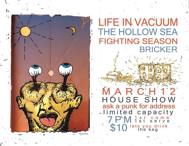Event poster for March 12 house show