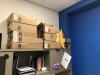 Packages are piling up in Ryerson Students' Union office. RSU was the first of multiple SU's to report the phenomenon. Photo by Alabba Rizza