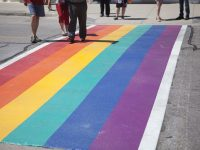 Rainbow crosswalk unveiled in Uptown, vandalized three days later