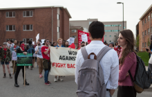 Indigenous ceremony and community protests held on campus in response to LSOI event