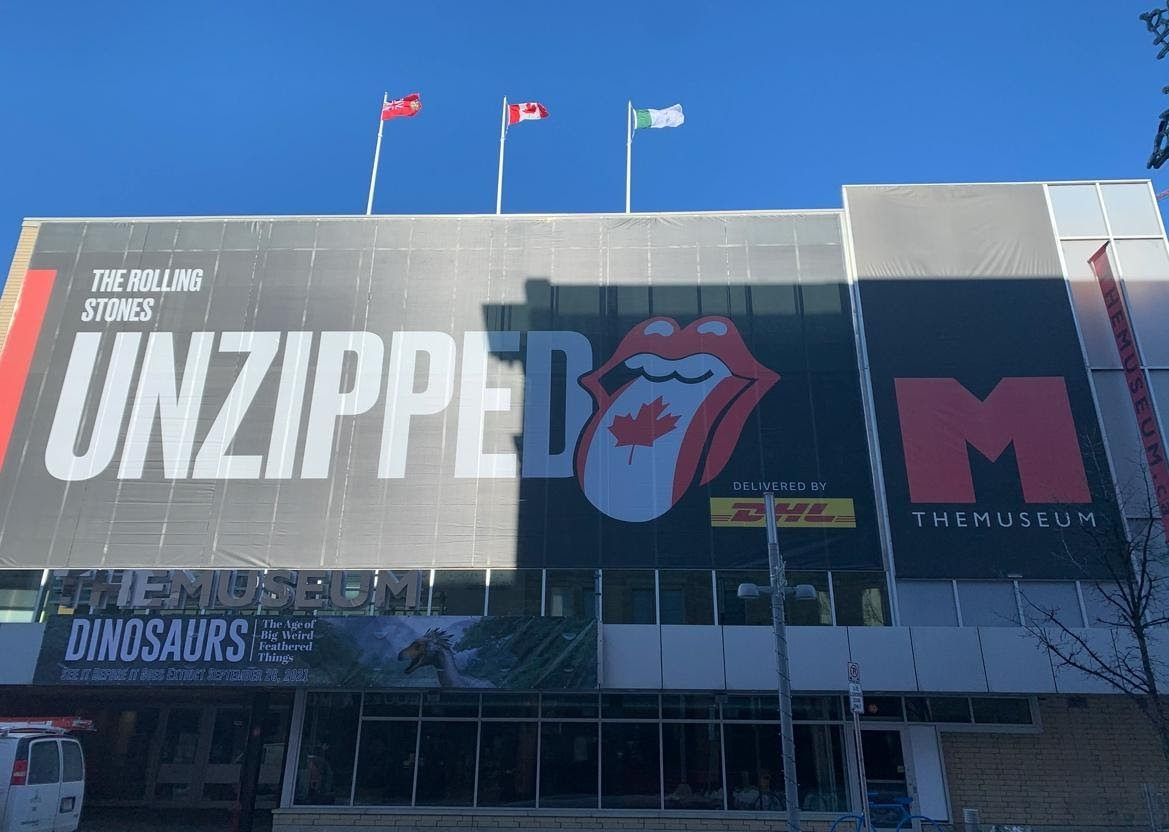 The Rolling Stones UNZIPPED premiering at Kitchener's THEMUSEUM in November 2021